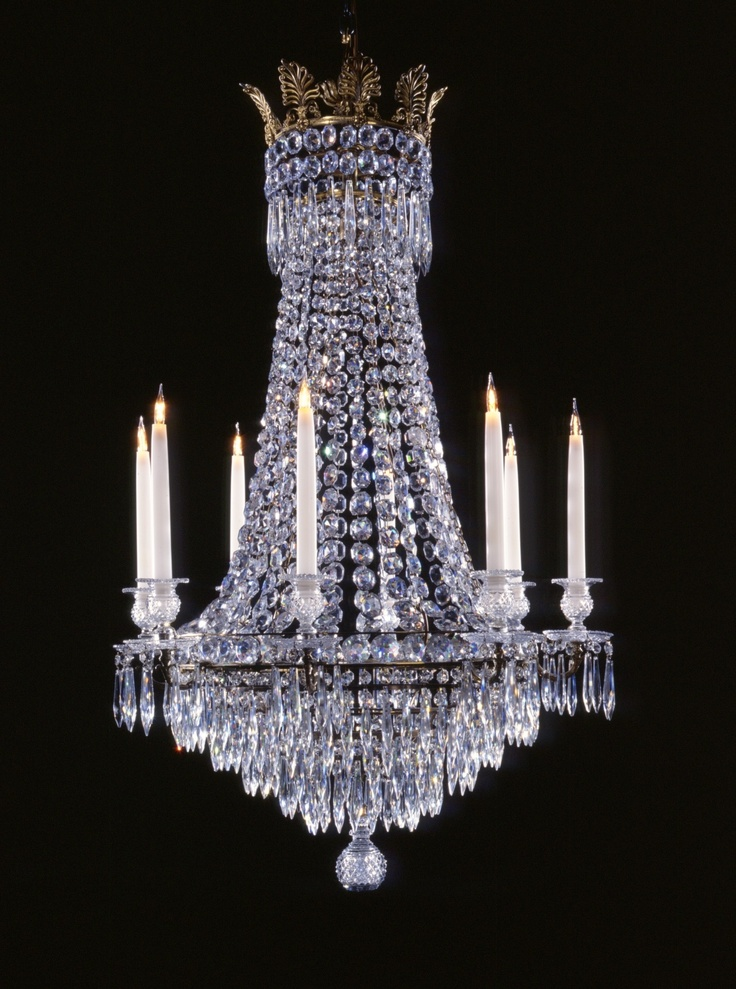9 best regency chandeliers images on pinterest chandeliers a regency style tent and waterfall chandelier typical of the early 1800s for 8 lights mozeypictures Choice Image