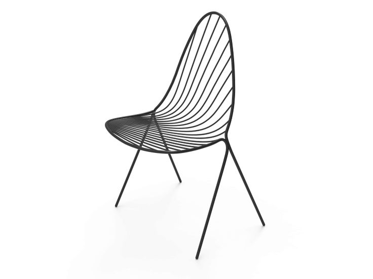 Steel chair drapee by petite friture design constance for Chair design elements