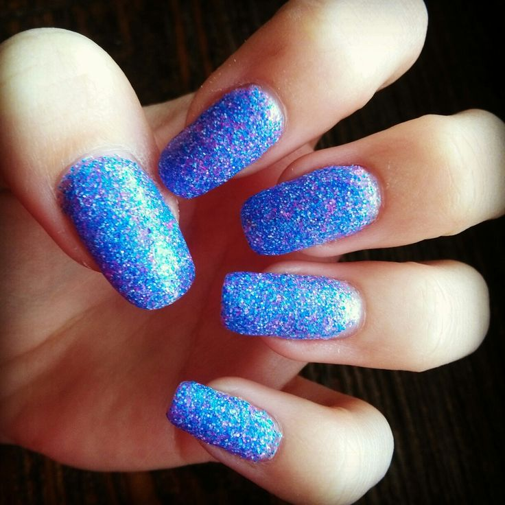 blue and pink glitter