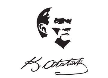 Vektörel M.K.Atatürk İmzası Silueti Çizimi