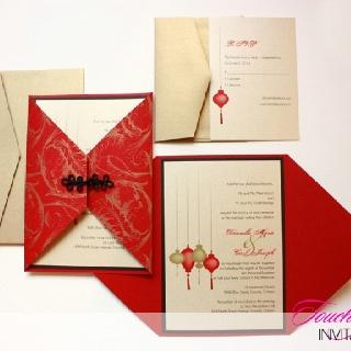 Asian Inspired Wedding Invitations