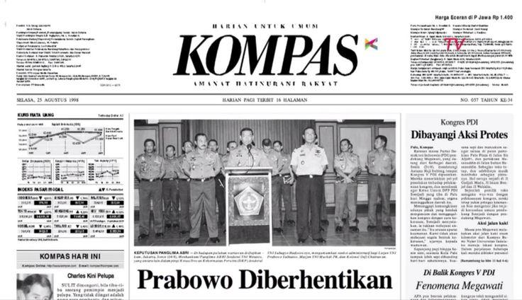 B. Headline Kompas pada Agustus 1998 Tentang Prabowo pic.twitter.com/SEuZxS034t cc: @PakBondan