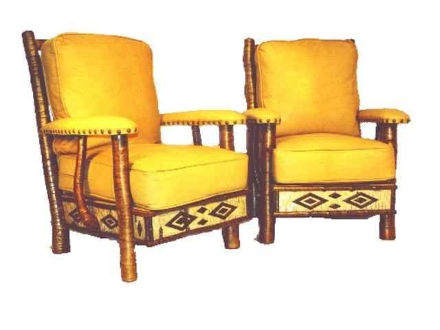 Adirondack Rustic Molesworth Chair (Golden) from adirondackwoodwright.com