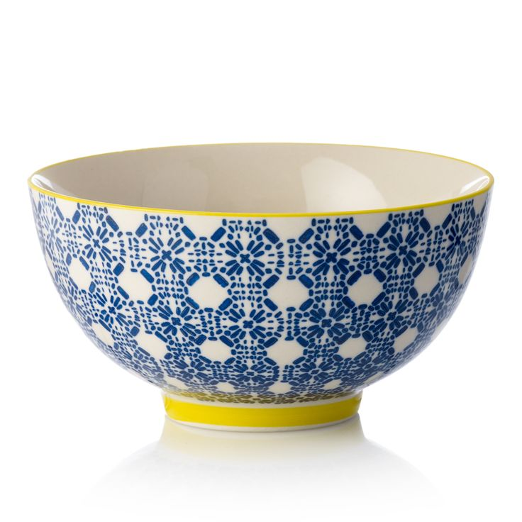 Buy Astrid Bowls from Oliver Bonas £4.50-£8.50 sml, blue, turquoise and yellow