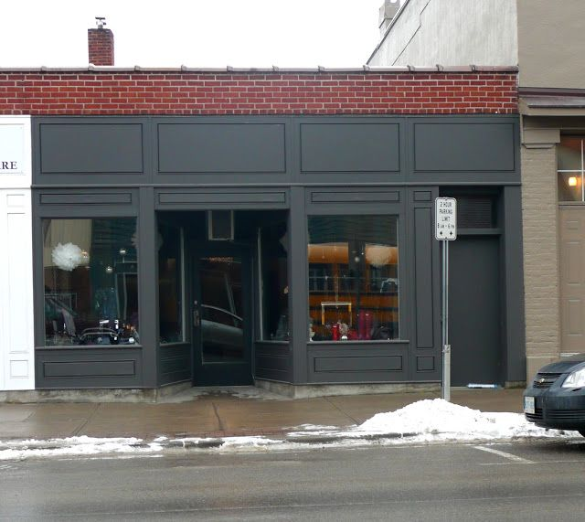 Charcoal Amp Red Brick Storefront Salon In 2019 Brick