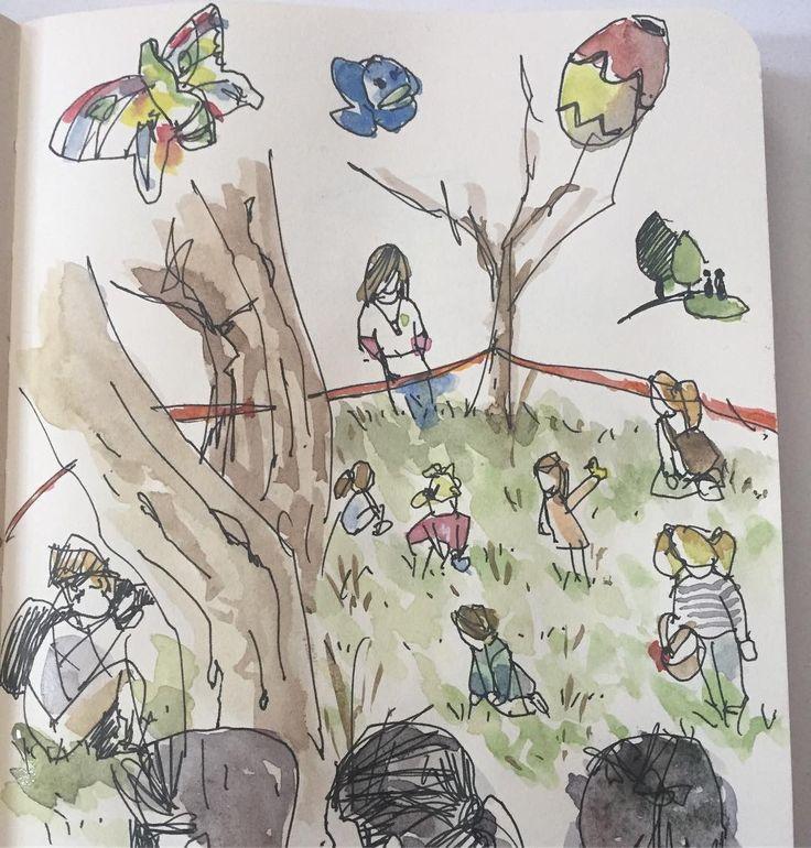 Búsqueda del #tesoro en el #Barrio #LaPinada #valterna #valencia  #Treasure #hunting #game in Valterna. #parents #children #butterflies #ducks #eggs
