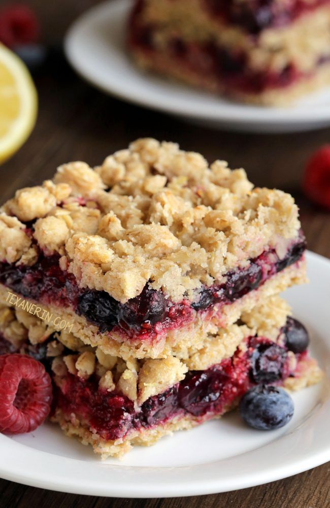 Berry Bars (with vegan, whole grain and dairy-free options – please click through to the recipe to see the dietary-friendly options)