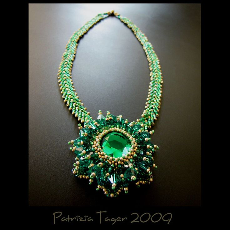 Emerald Queen  OOAK Necklace  SALE 25 OFF by triz on Etsy, $161.00