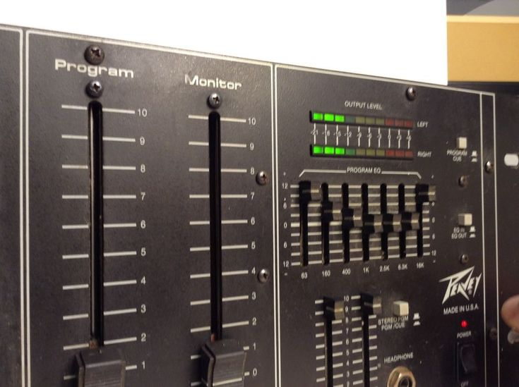 $70 Peavey 502 Production Mixer. 2 Channel DJ Mixer produced1989 Professional quality USA made. Put the needle on the record! | eBay!