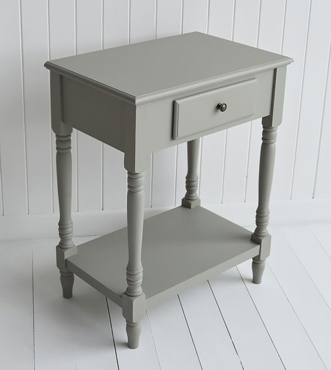 Best Charleston Grey Small Console Table With Drawer And Shelf 400 x 300
