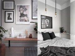 Пуфик. Домашние вдохновенияЕще один пример скандинавского интерьера, основанного на холодных бело-серых тонах. В этот раз у нас открытая планировка на площади 52 кв. м, лишь спальня отделена, как это …