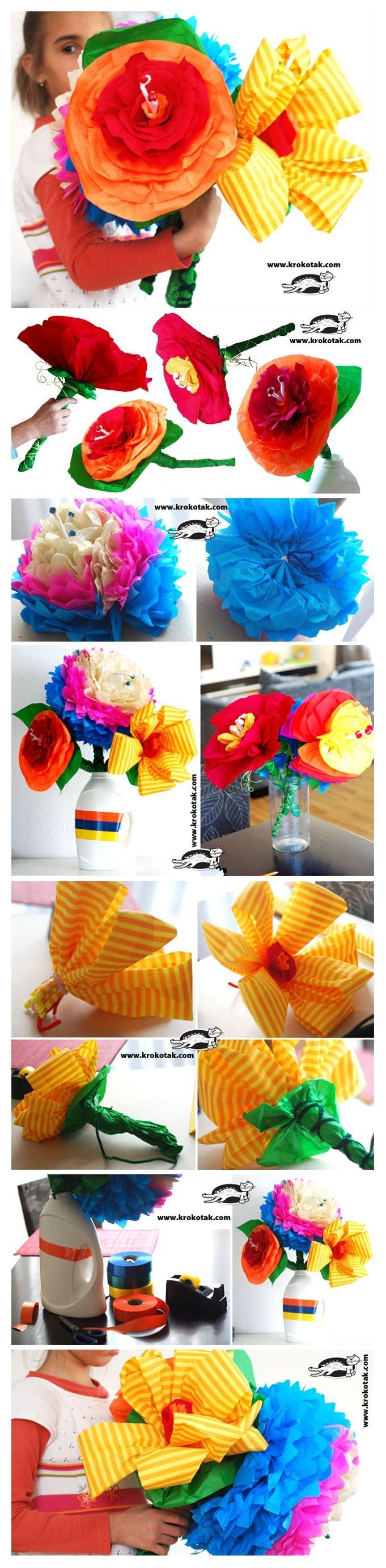 best paper flowers images on pinterest fabric flowers