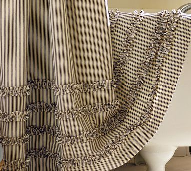 17 Best images about Black and White Striped Shower Curtain on ...