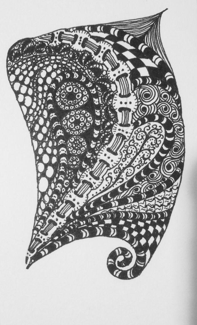 Zentangle type doodle
