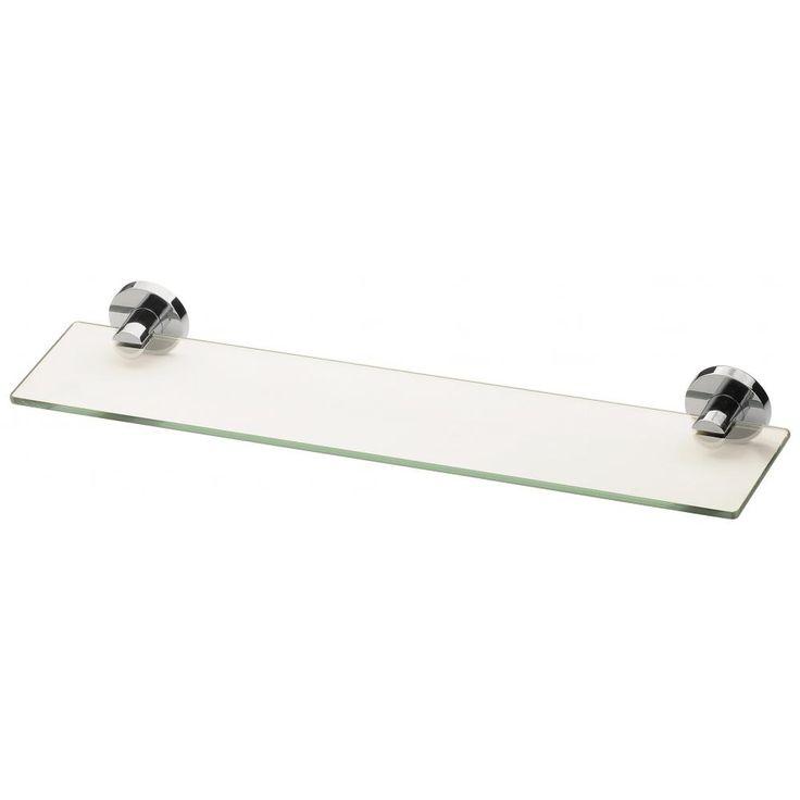 (x1?) Radii Glass Shelf Round Plate - http://www.phoenixtapware.com.au/radii-glass-shelf-round-plate