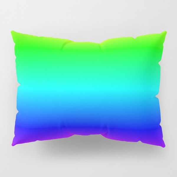 Digital Neon Tropical Rainbow Pillow Sham ($40) ❤ liked on Polyvore featuring home, bed & bath, bedding, bed accessories, rainbow bedding, tropical bedding, neon bedding and neon color bedding