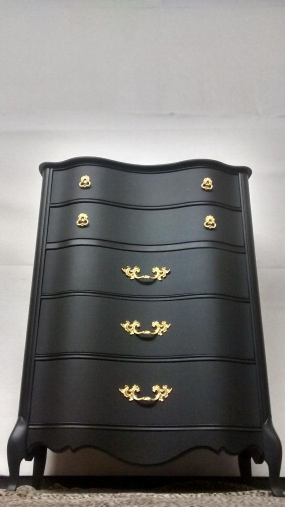 Chest of Drawers French Provincial Country French Vintage Highboy Dresser by Bassett Shabby Chic Coastal Cottage Mid Century