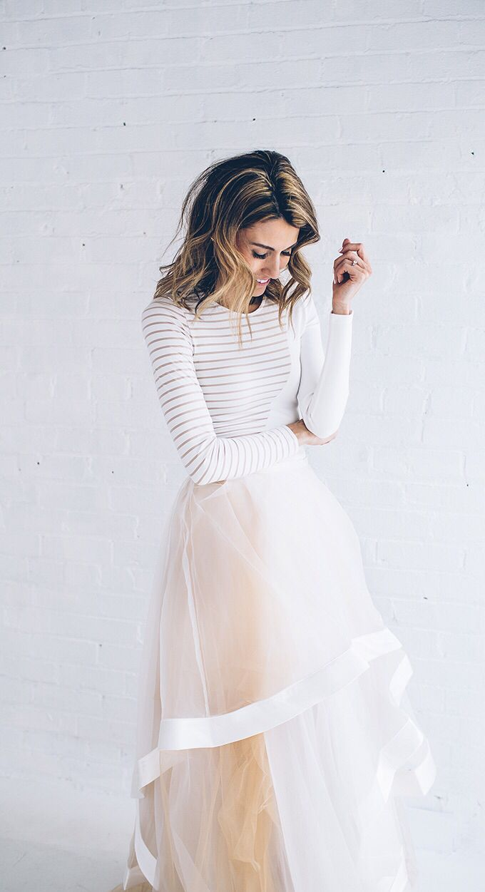 Tulle Skirt & Stripes