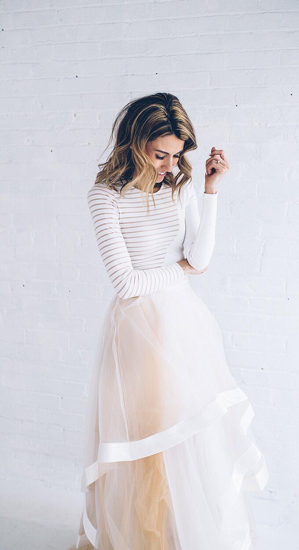 Tulle Skirt & Stripes