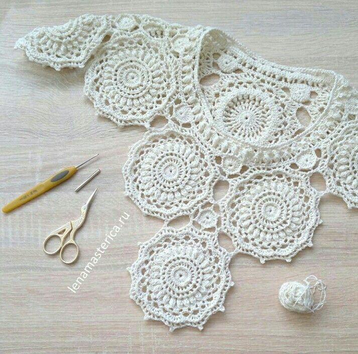 9779 best blusas crochet images on Pinterest   Crocheting, Beachwear ...