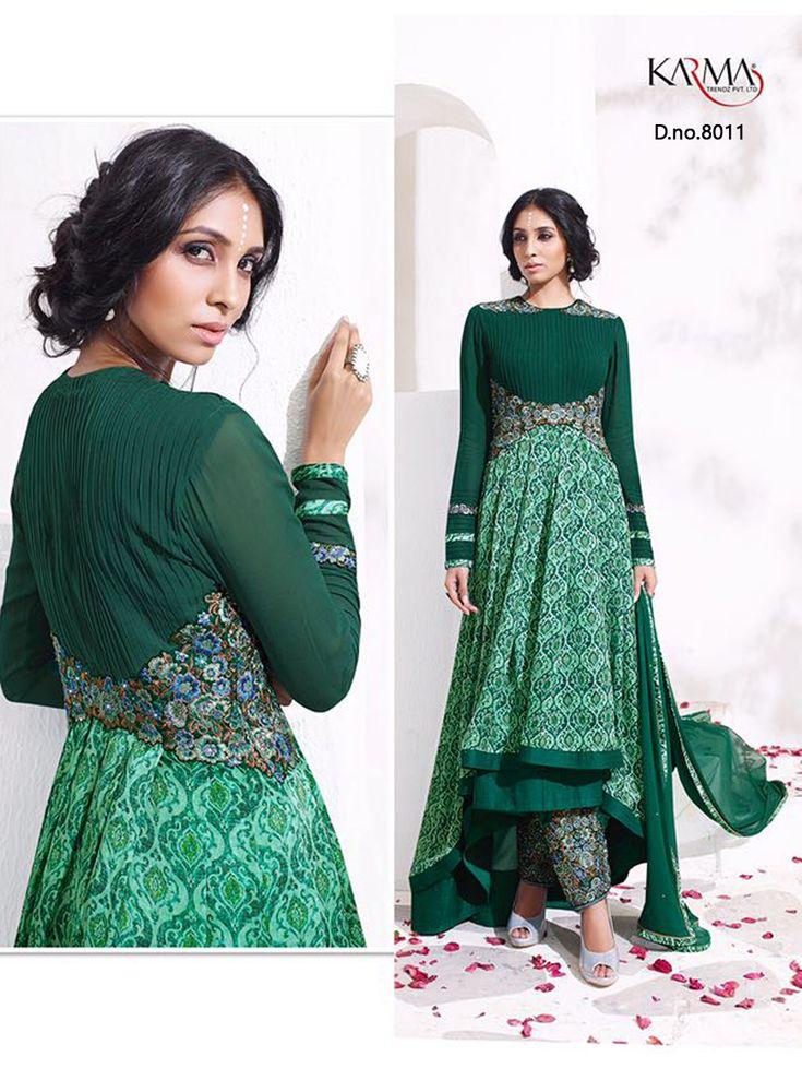 Buy Online Karma Designer Anarkali Suit Catalog At Wholesale Price In India
