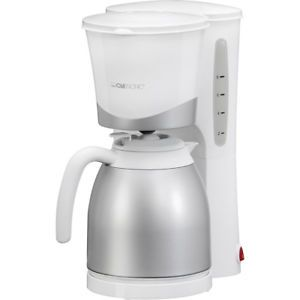 a clatronic ka 3327 cafetera goteo jarra termo capacidad 10 tazas 870 w blanco