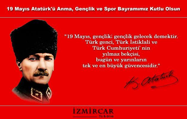 19 Mayıs Atatürk'ü Anma, Gençlik ve Spor Bayramımız Kutlu Olsun! #Ataturk #MustafaKemalAtatürk #19mayıs