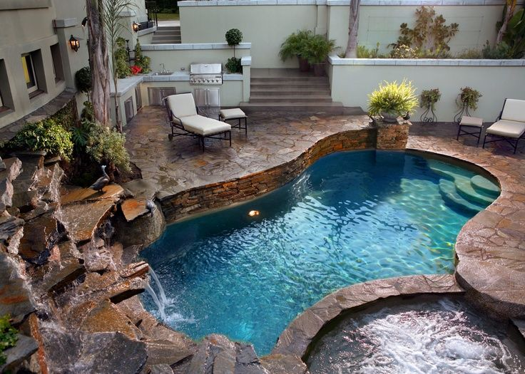 Small pool idea pool ideas pinterest decks - Swimming pools for small backyards ...