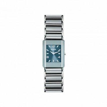Γυναικείο ελβετικό quartz ρολόι RADO Integral με ασημί κεραμικό-ατσάλινο μπρασελέ & μπλε καντράν   Ρολόγια RADO Κοσμηματοπωλείο ΤΣΑΛΔΑΡΗΣ στο Χαλάνδρι #Rado #integral #κεραμικο #μπρασελε #ρολοι