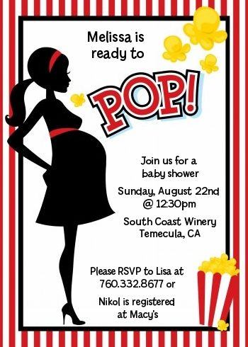 Ready To Pop - Ideas for Baby Cole's baby shower.  Cute considering her parents love movies!