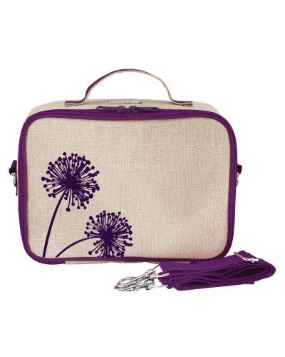 """Description:    SoYoung's popular linen lunch box combines an eco-friendly, retro-inspired design with machine washability. Includes a messenger strap and leak proof insulated insert for easier cleaning.   Features:  Insulated Interior  Machine washable (gentle)  Easy clean removable insert  Detachable long strap for wearing as messenger bag or backpack (47"""")  PVC, Phthalate, Lead and BPA Free  Extra back pocket for cutlery and love notes  Dimensions: 10""""W x 7.5""""H x 3&quo..."""