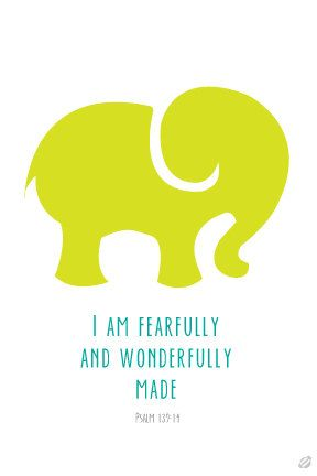 I am fearfully and wonderfully made by LostBumblebee on Etsy, $5.00 #lostbumblebee