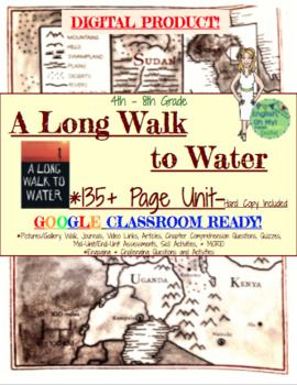 **********A Long Walk to Water**********A Long Walk to Water has become a staple novel in many of the English Language Arts classrooms. The non-fiction element of the novel, as well as Nyas story, creates a very engaging, action-packed novel focusing on the themes of hope and survival.In this 135+ product, you will receive the HARD COPY:1.