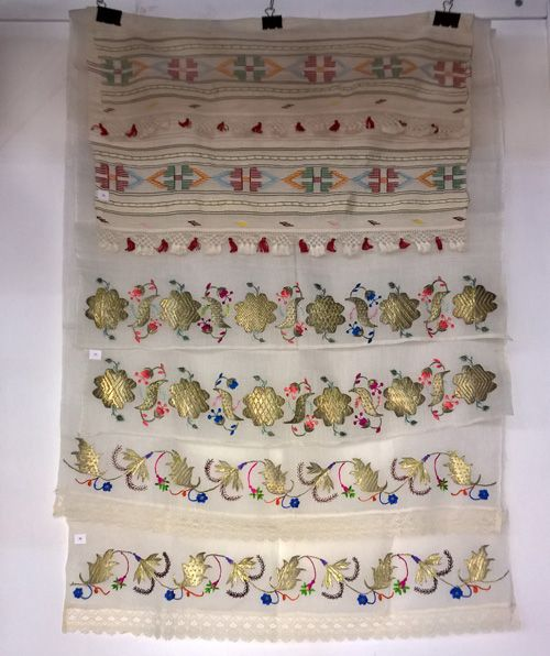 Vintage embroidered towels of Crimean Tatars, 3 towels on one photo