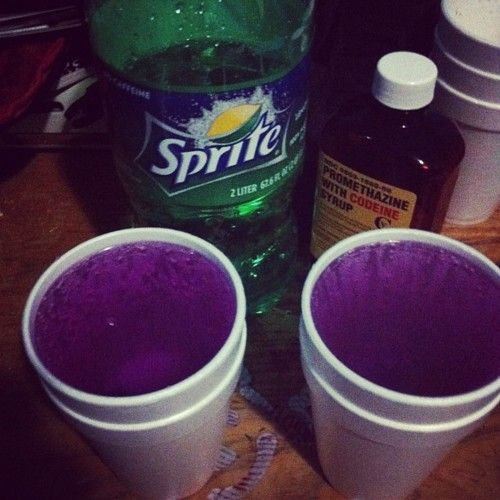 Purple Drank is codeine/promethazine cough syrup mixed in with some sprite. The mixture became popular in the hip hop community in the southern United States in the 1990s. It originated in Houston.