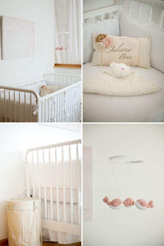 simple feminine nursery with davinci jenny lind 3in1 convertible crib