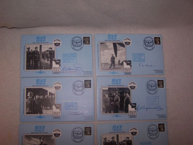 Reach for the Sky RAF BENEVOLENT FUND  Battle of Britain  8 SIGNED COVERS 50TH