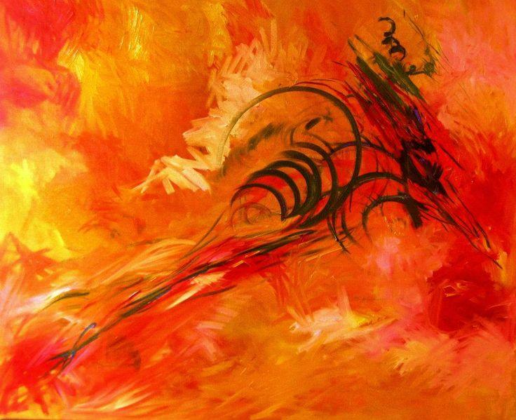 Le Souffle du Dragon. Huile sur toile, 82X100 cm. 2012.
