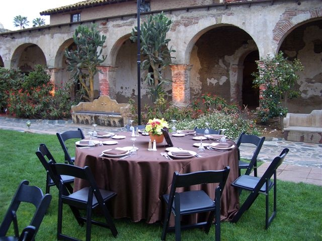 Chocolate Tablecloth Wedding Reception Ideas For Kesha