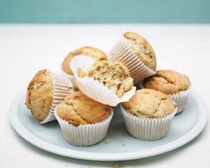 Crunchy peanut butter muffins from Rachel Allen - a sweet teatime treat