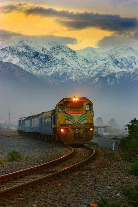 Mountain train, Kaikoura, New Zealand