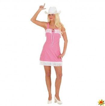 Kostüm Cowgirl, Kleid rosa, 36 kaufen