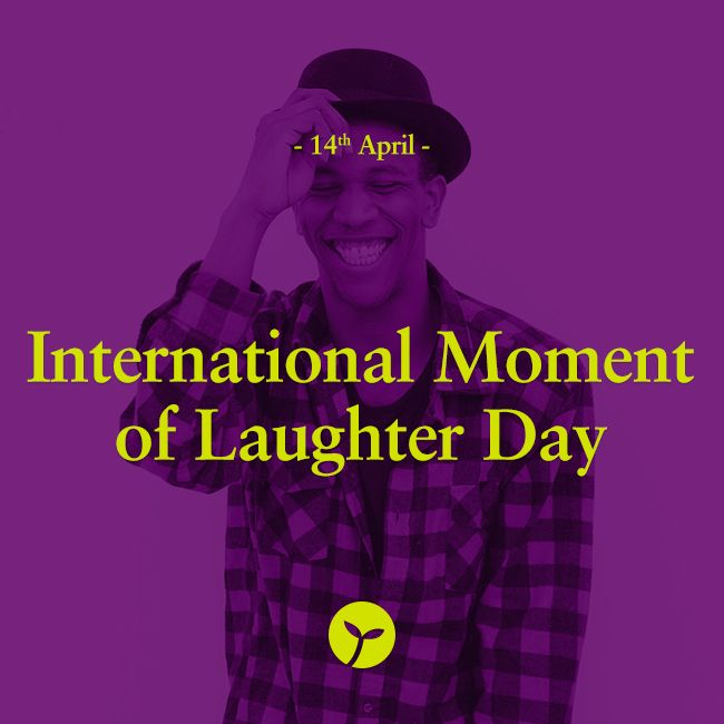 """International Moment of Laughter Day is celebrated today on April 14, 2015. The goal of this day is to get people to laugh, because """"laughter is the best medicine"""". #InternationalMomentOfLaughterDay #holiday #holidays #sprout #freedomtogrow #lol #laughter"""
