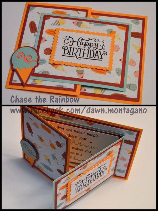 Tolle Idee für eine Geburtstagskarte! CTMH & # 39…