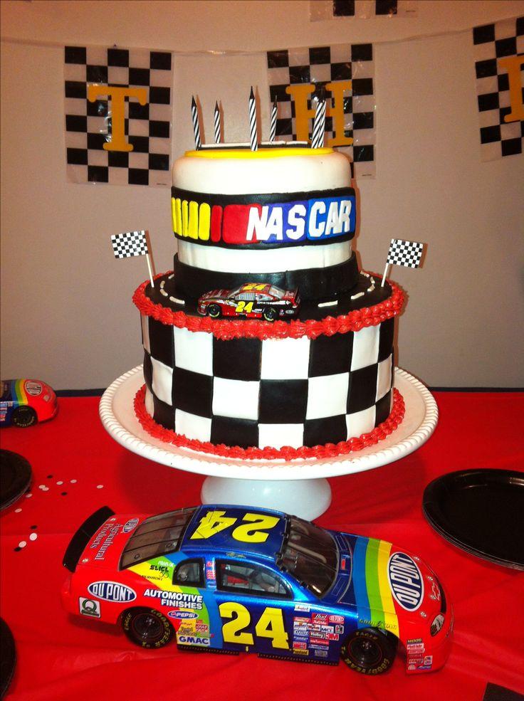 NASCAR Cake. Jeff Gordon. NASCAR. By MadiCakes.