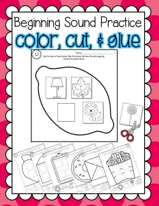Fun And Engaging Phonemic Awareness Printables Beginning Sound Color Cut Glue From Littlest Scholars