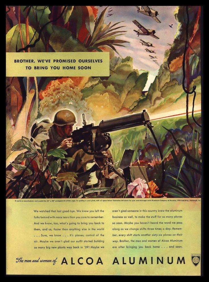 "Original 1942 Alcoa Aluminum ""Bringing You Back Home"" World War II Art Print Ad | eBay"