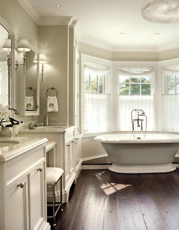 Suzie John B Murray Architect Lovely Bathroom For Two With Gray Walls Paint Color For