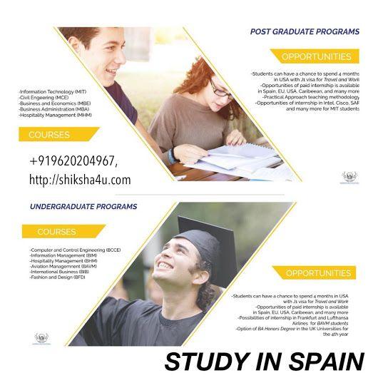 Study in Spain - Shiksha4u- Overseas Education Consultants - Google+