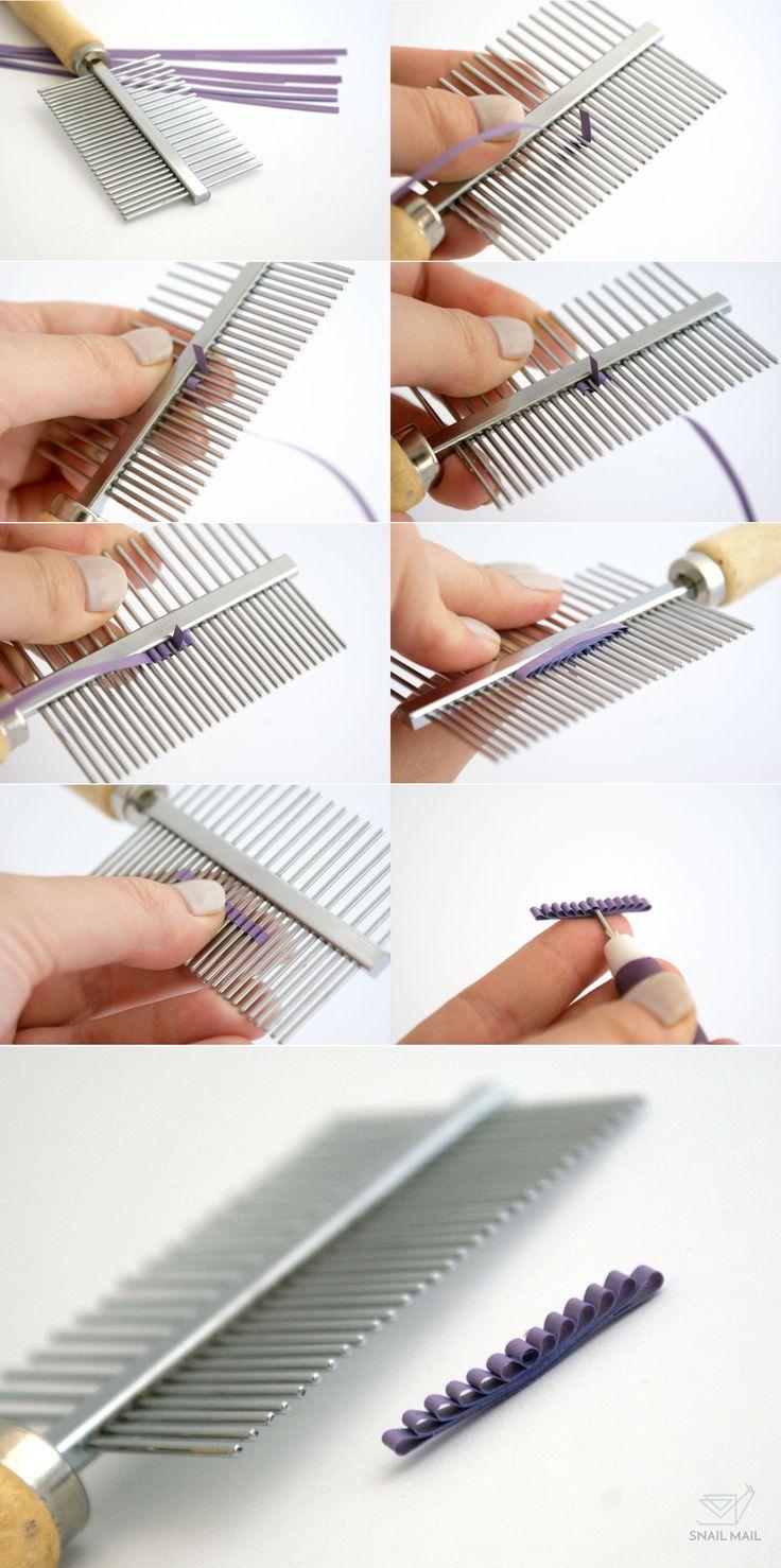 tutorial diy jak zrobić prostą kokardkę na grzebieniu quilling   how to make paper bow quilling tutorial easy for begginers